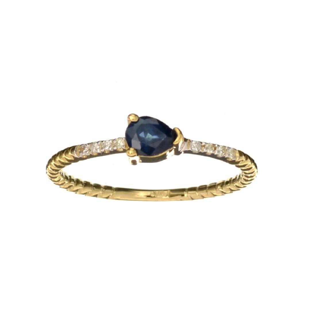 APP: 0.7k Fine Jewelry 14KT Gold, 0.34CT Blue Sapphire