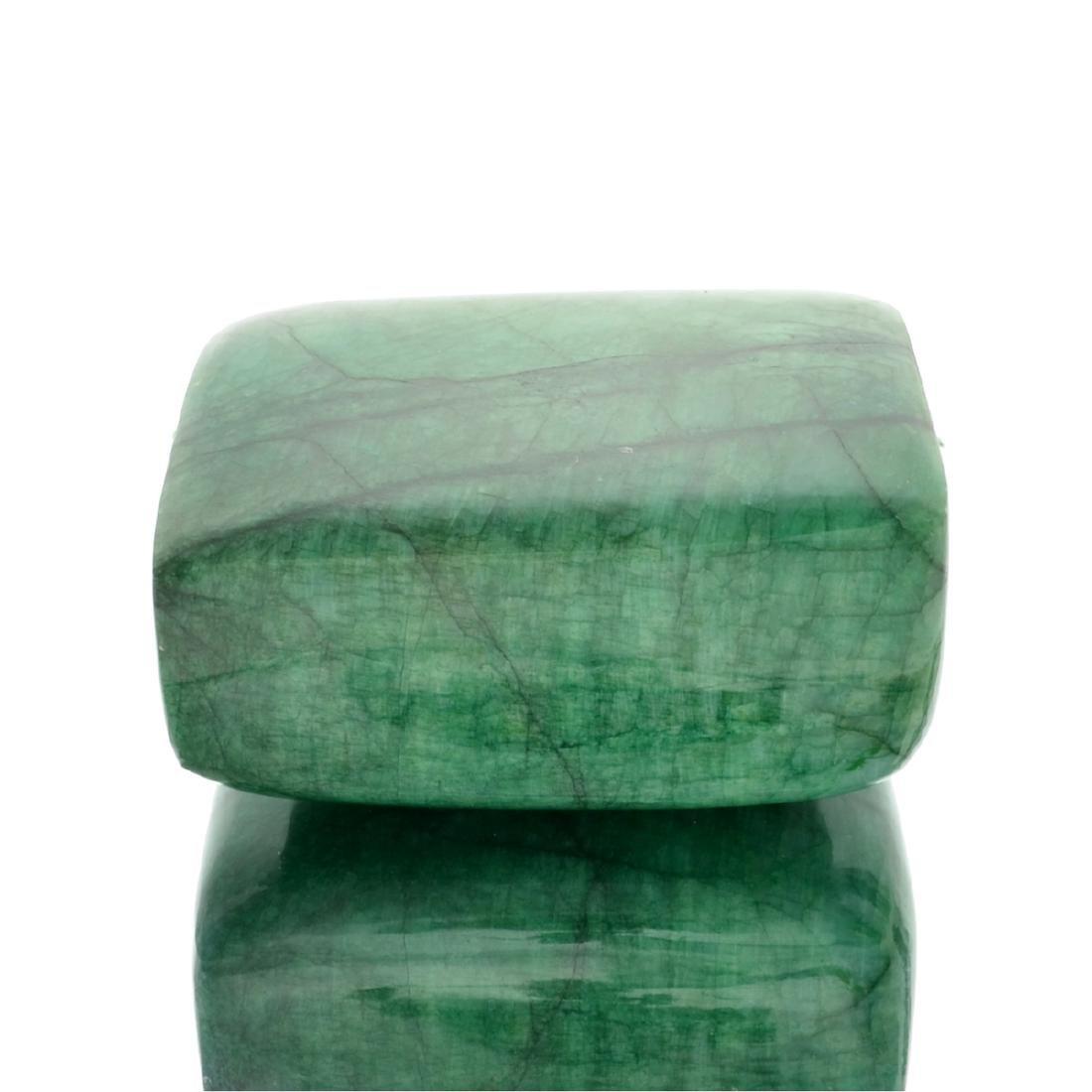 APP: 9.8k 2,439.00CT Rectangle Cut Cabochon Green Beryl