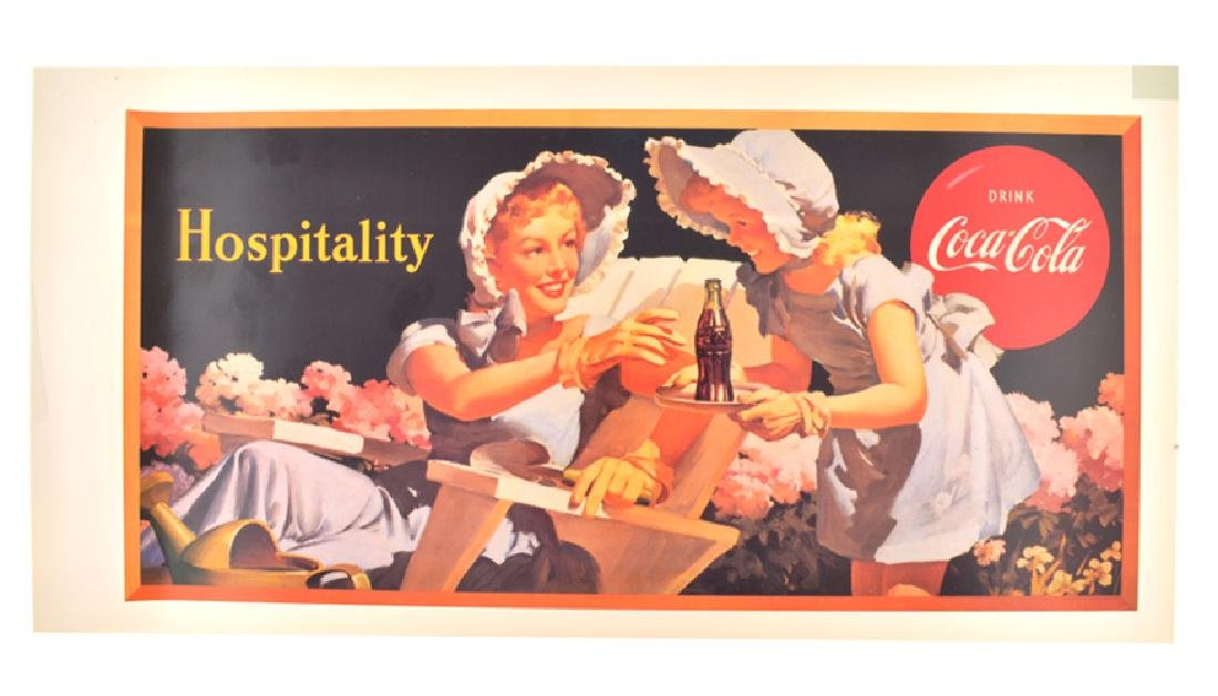 Rare Vintage Collectable Coca Cola Advertising Poster