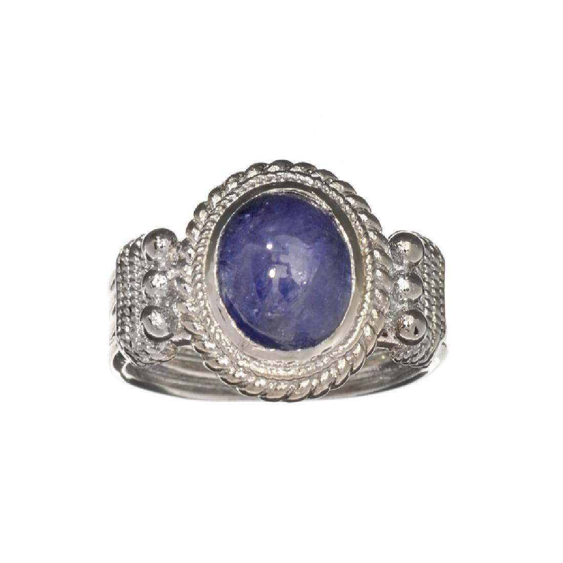APP: 0.9k Fine Jewelry 3.17CT Oval Cut Violet Tanzanite
