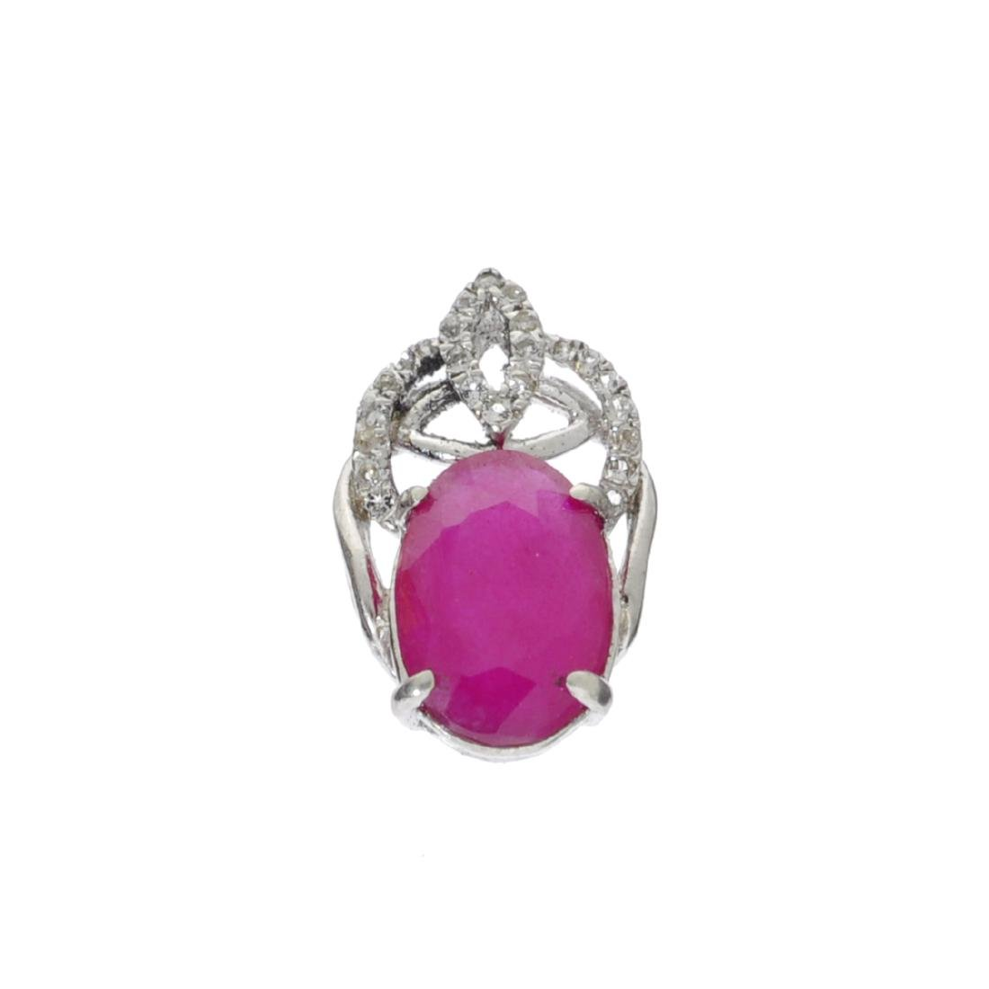 APP: 0.9k Fine Jewelry 2.84CT Ruby And White Topaz