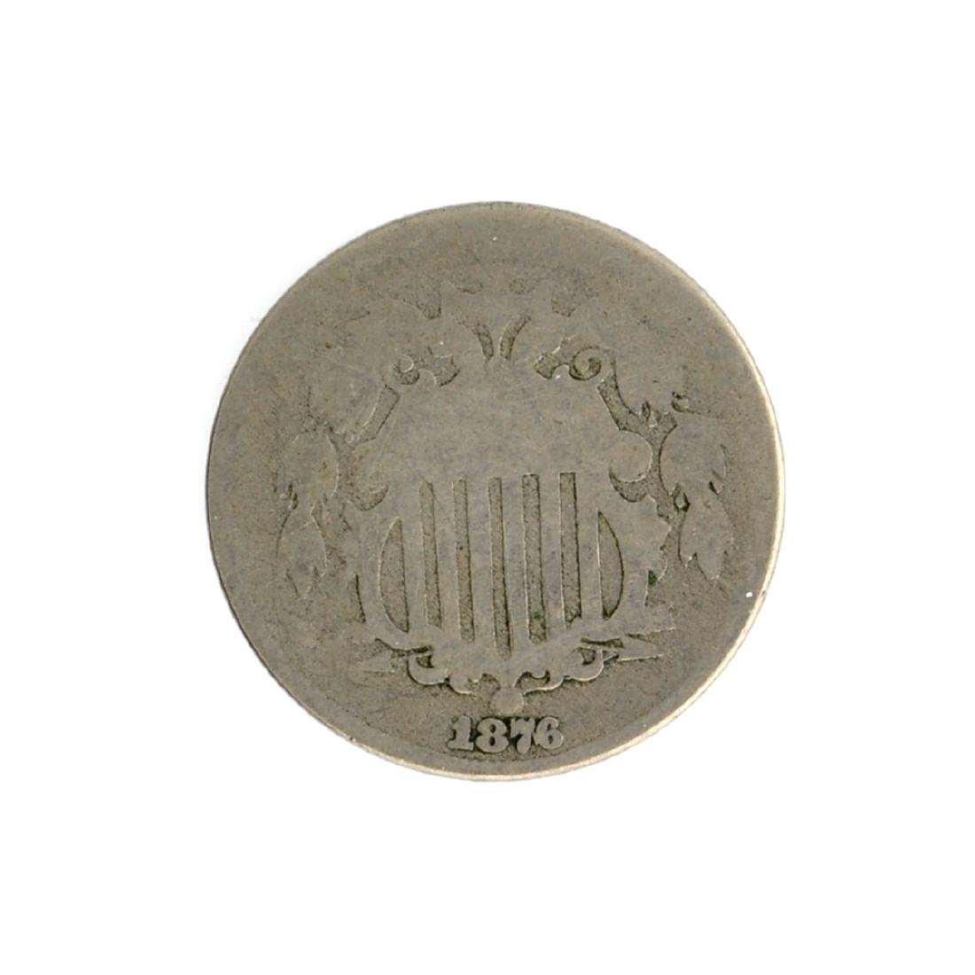 1876 Shield Nickel Coin