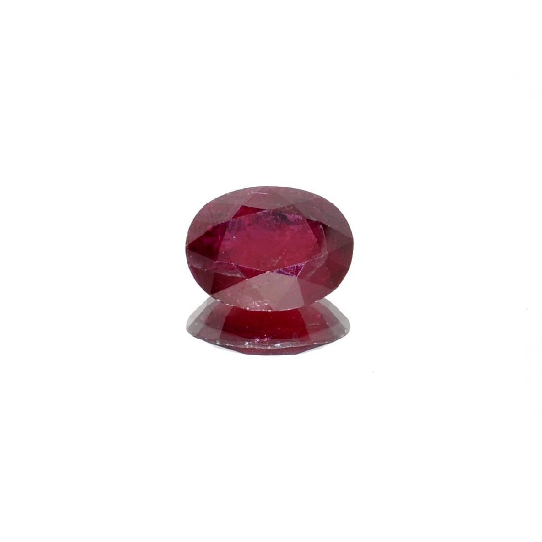 APP: 1.6k 7.00CT Oval Cut Ruby Gemstone