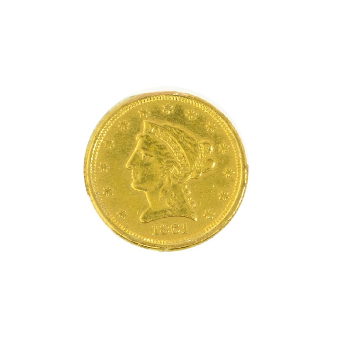 *1861 $2.50 U.S. Liberty Head Gold Coin (JG-MRT)