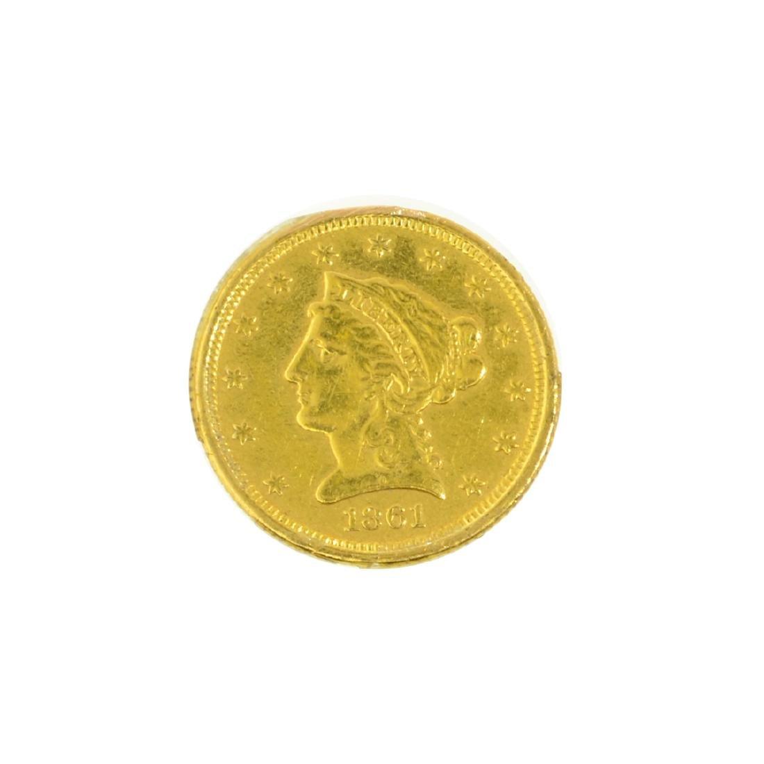 *1861 $2.50 U.S. Liberty Head Gold Coin (JG-MRT)