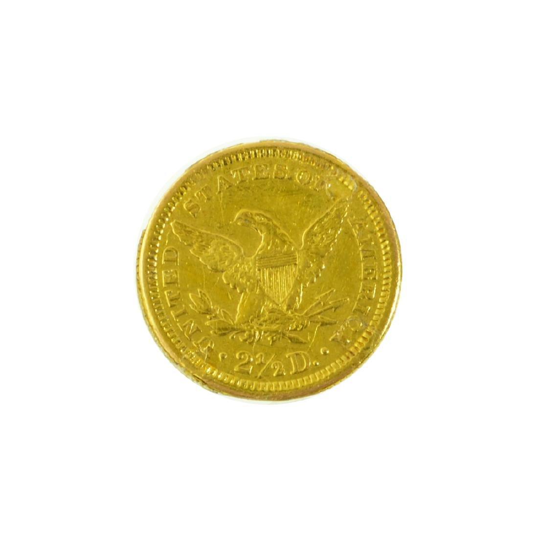 *1861 $2.50 U.S. Liberty Head Gold Coin (JG-MRT) - 2