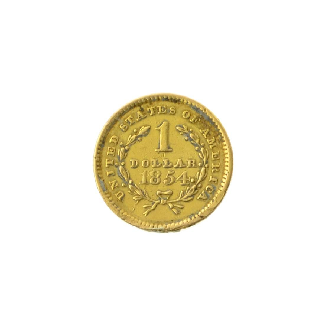 *1854 $1 U.S. Liberty Head Gold Coin (JG-MRT) - 2