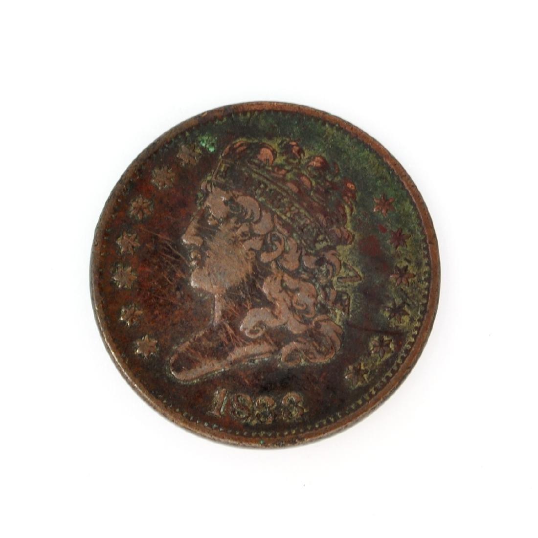 1833 Classic Head Half Cent Coin