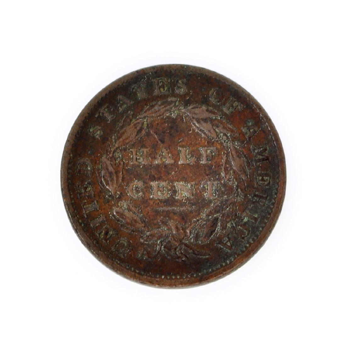 1833 Classic Head Half Cent Coin - 2
