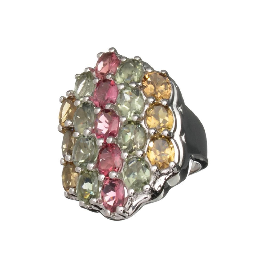6.36CT Oval Cut Multi-Colored Multi Precious Gemstones