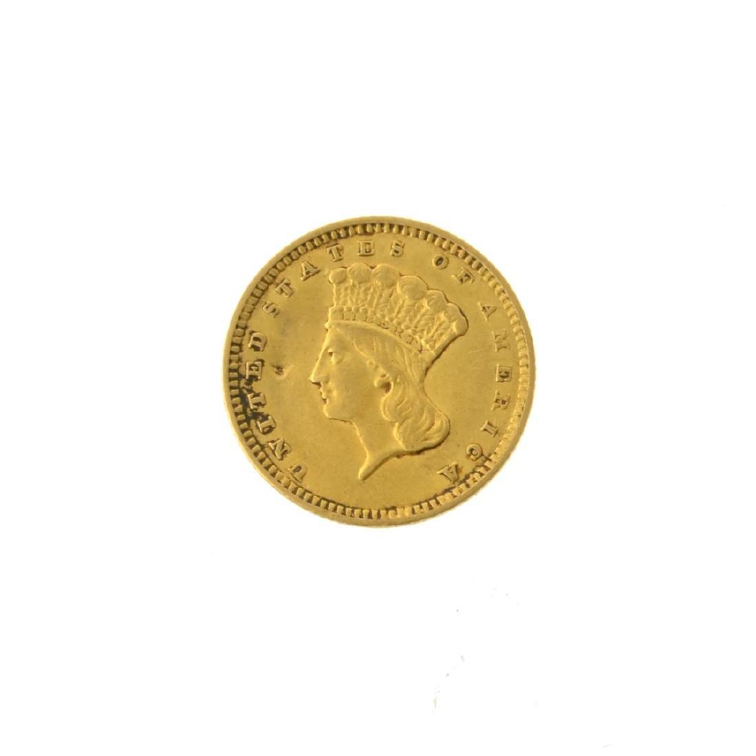 *1856 $1 U.S. Indian Gold Coin (JG-MRT)