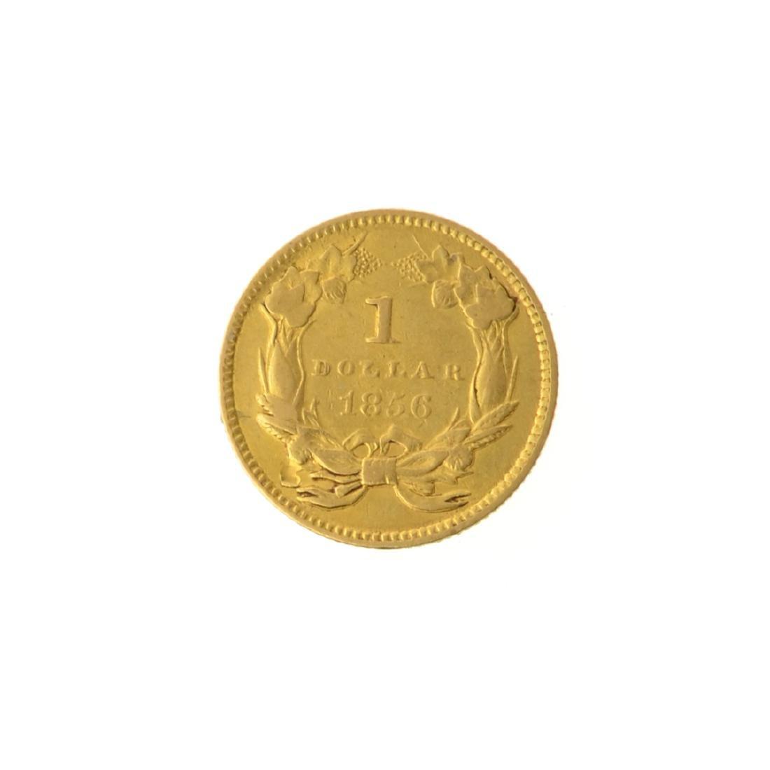 *1856 $1 U.S. Indian Gold Coin (JG-MRT) - 2