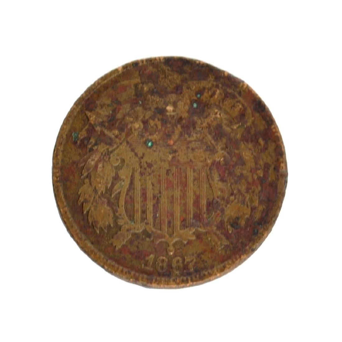 1867 Two-Cent Piece Coin