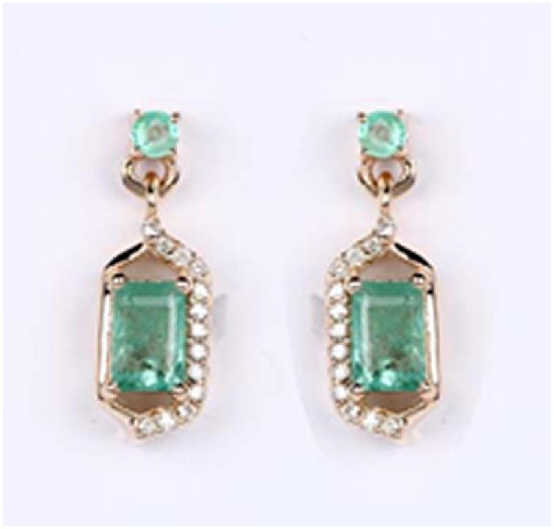 *Fine Jewelry 14K Gold, 1.96CT Zambian Emerald And