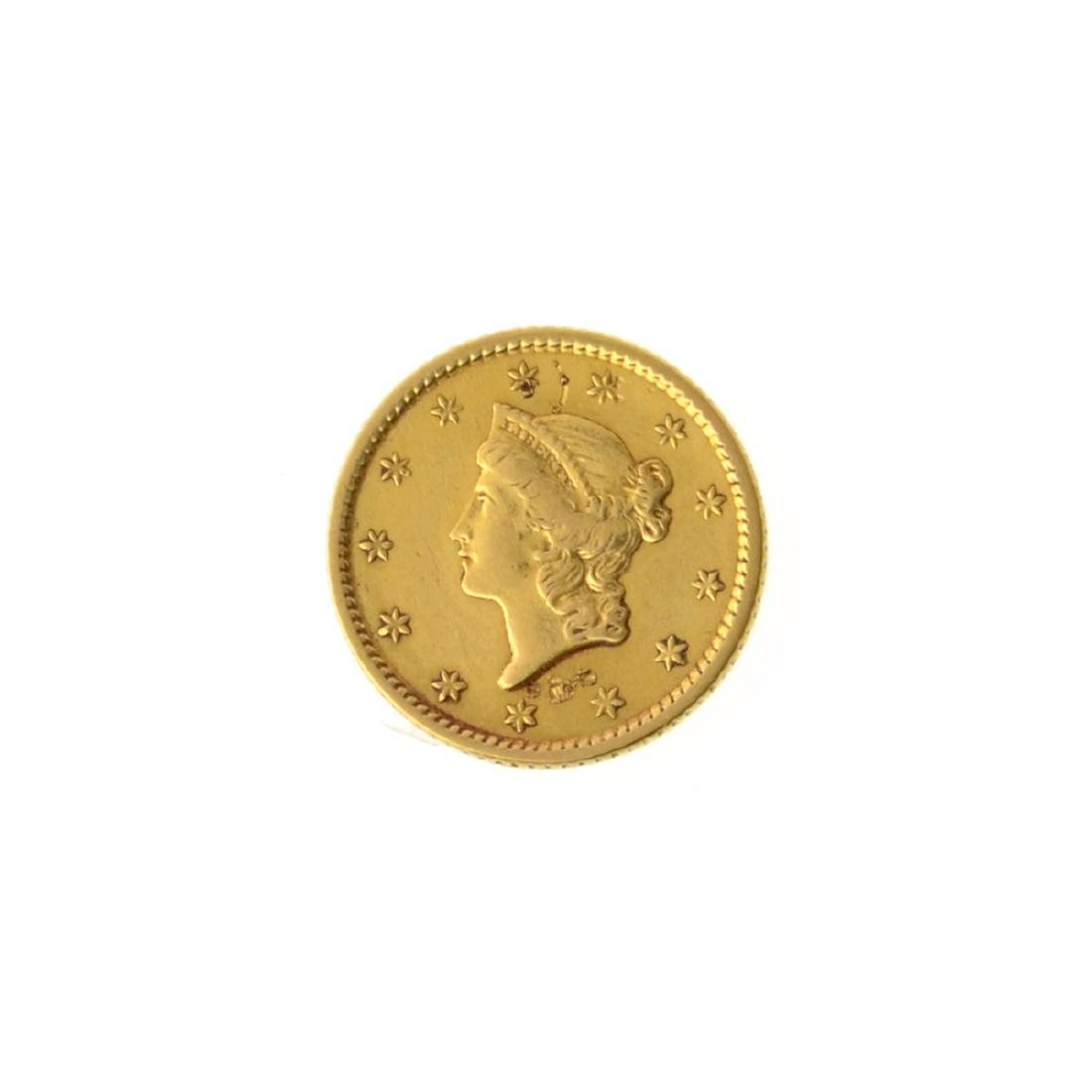 *1853 $1 U.S. Liberty Head Gold Coin (JG-MRT)