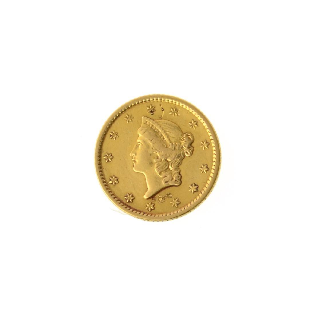 *1853 $1 U.S. Liberty Head Gold Coin (JG-MRT)