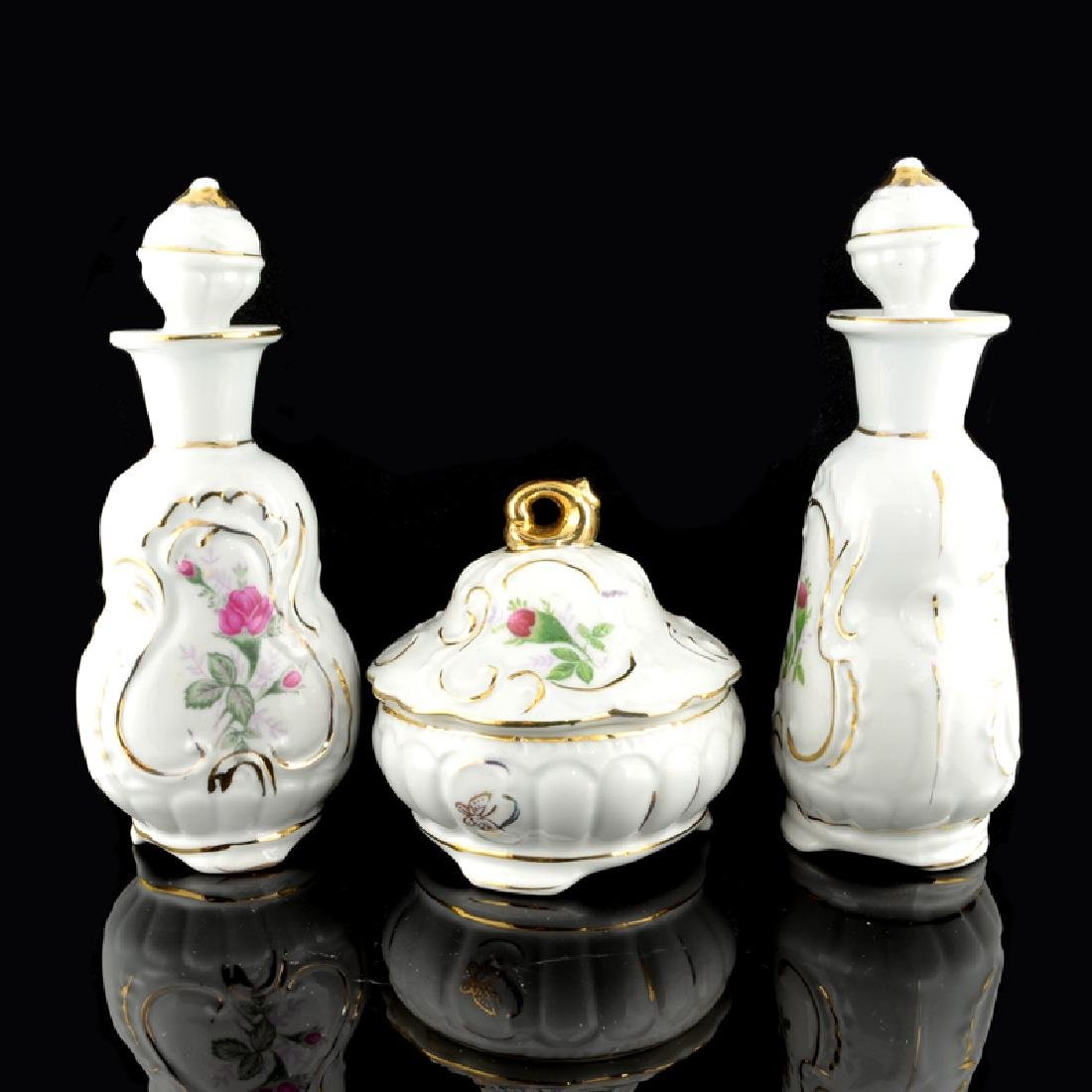 Rose Perfume Bottle Set