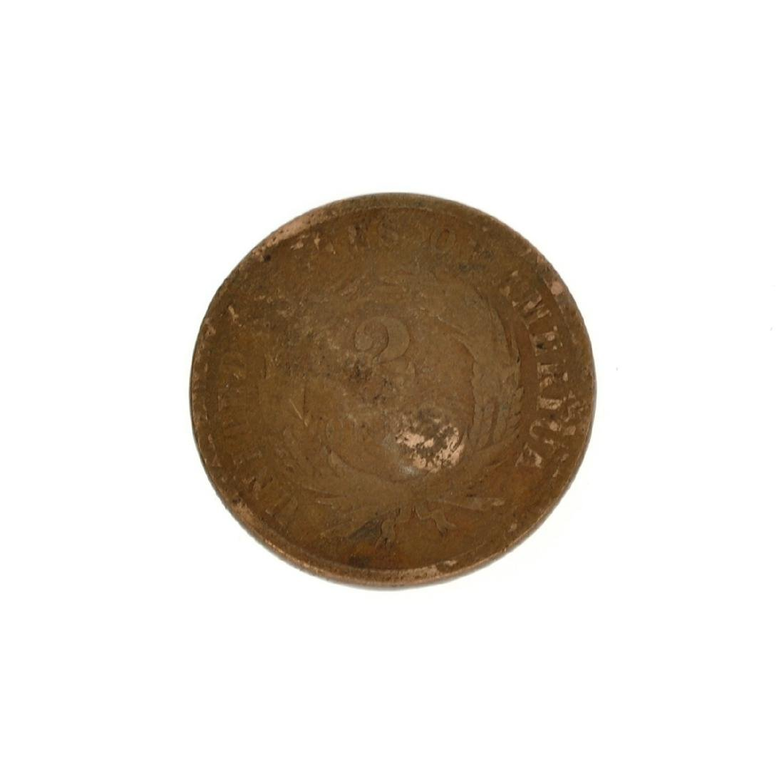 Rare 1865 Two-Cents Piece Coin - 2
