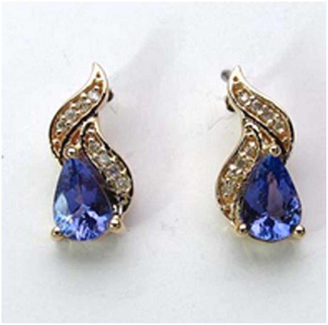 *Fine Jewelry 14K Gold, 1.88CT Tanzanite Pears And