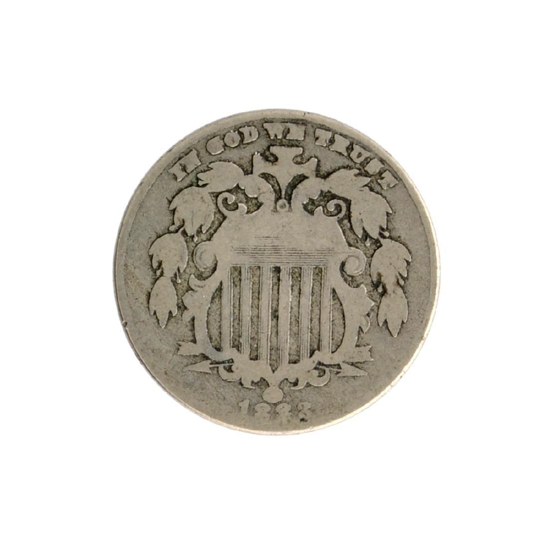 1883 Shield Nickel Coin
