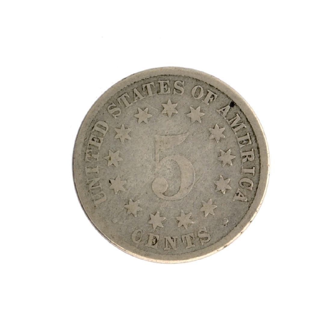 1883 Shield Nickel Coin - 2