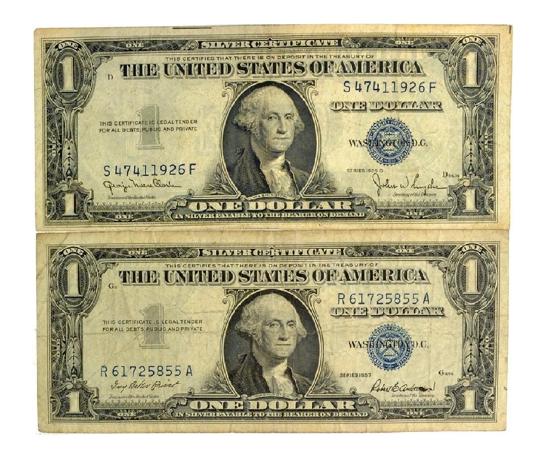 Rare (2) $1 U.S. Silver Certificates