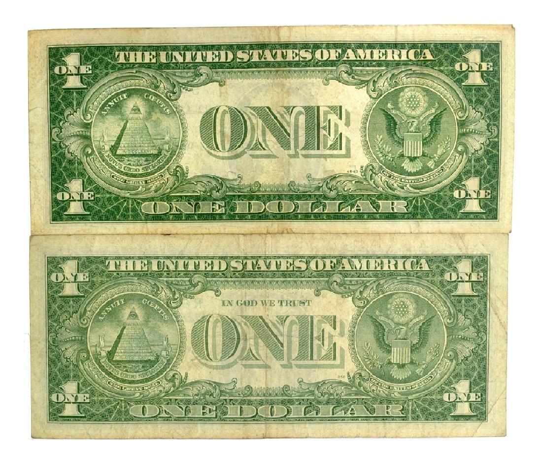 Rare (2) $1 U.S. Silver Certificates - 2