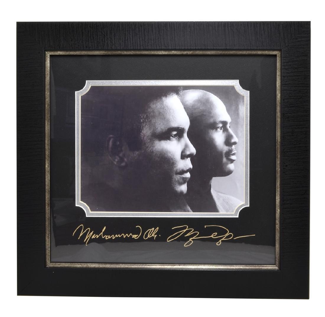 Rare Plate Signed Ali And Jordan Photo Great