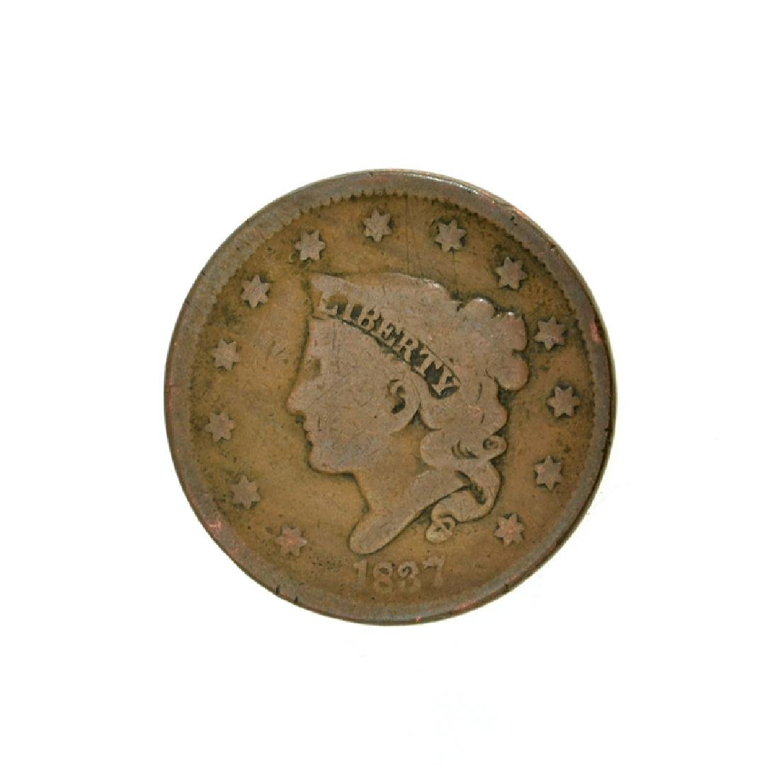 1837 Large Cent Coin