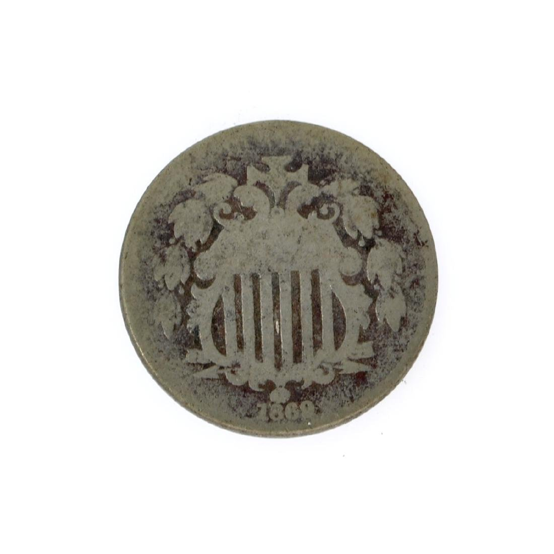 1869 Shield Nickel Coin