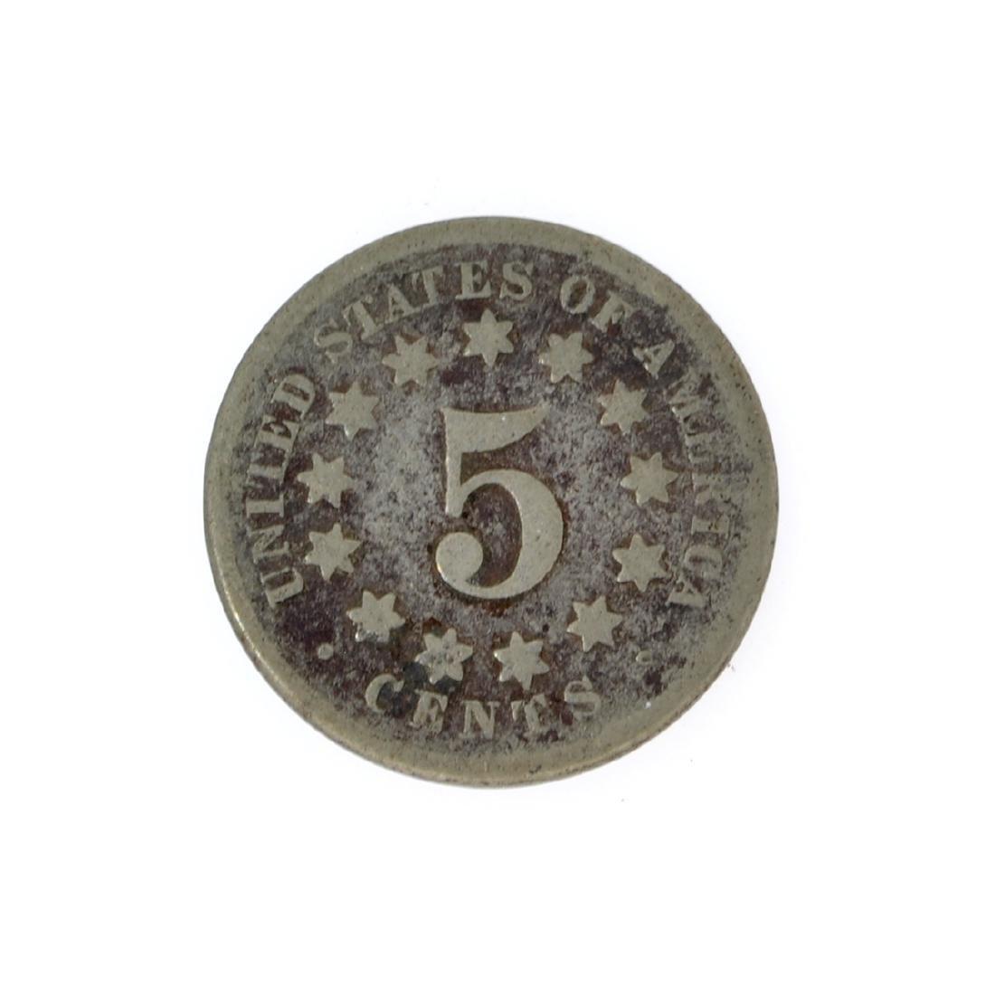 1869 Shield Nickel Coin - 2