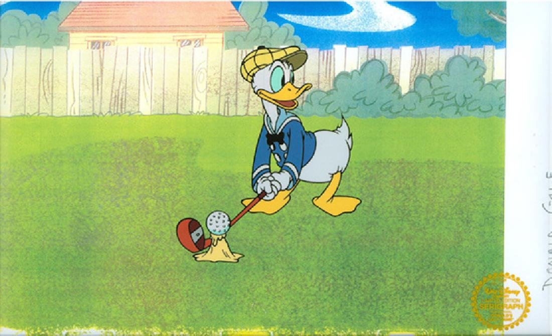Walt Disney (After) Serigraph, Cell, Donald's Golf Game