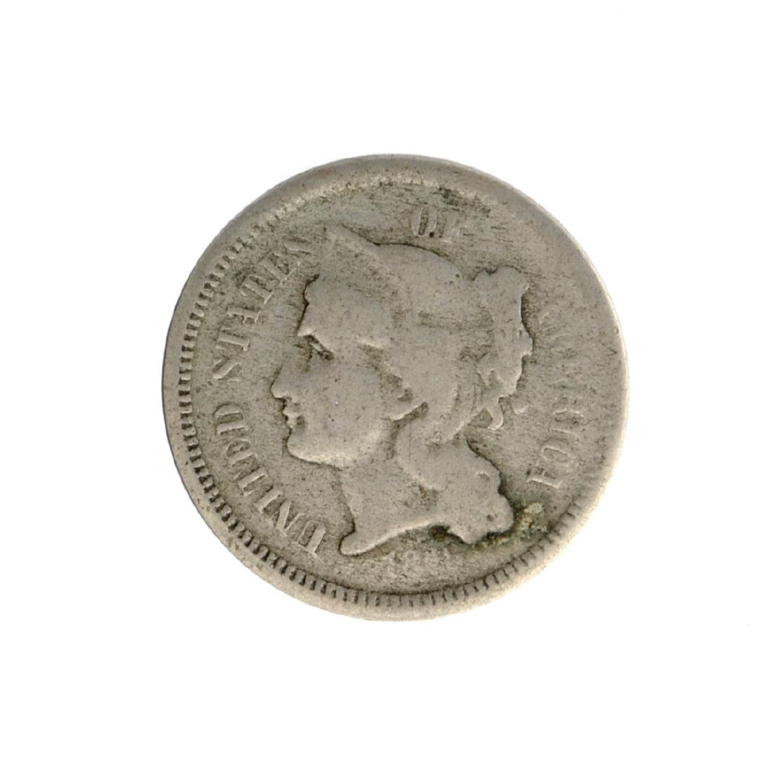 1865 Three Cent Nickel Coin