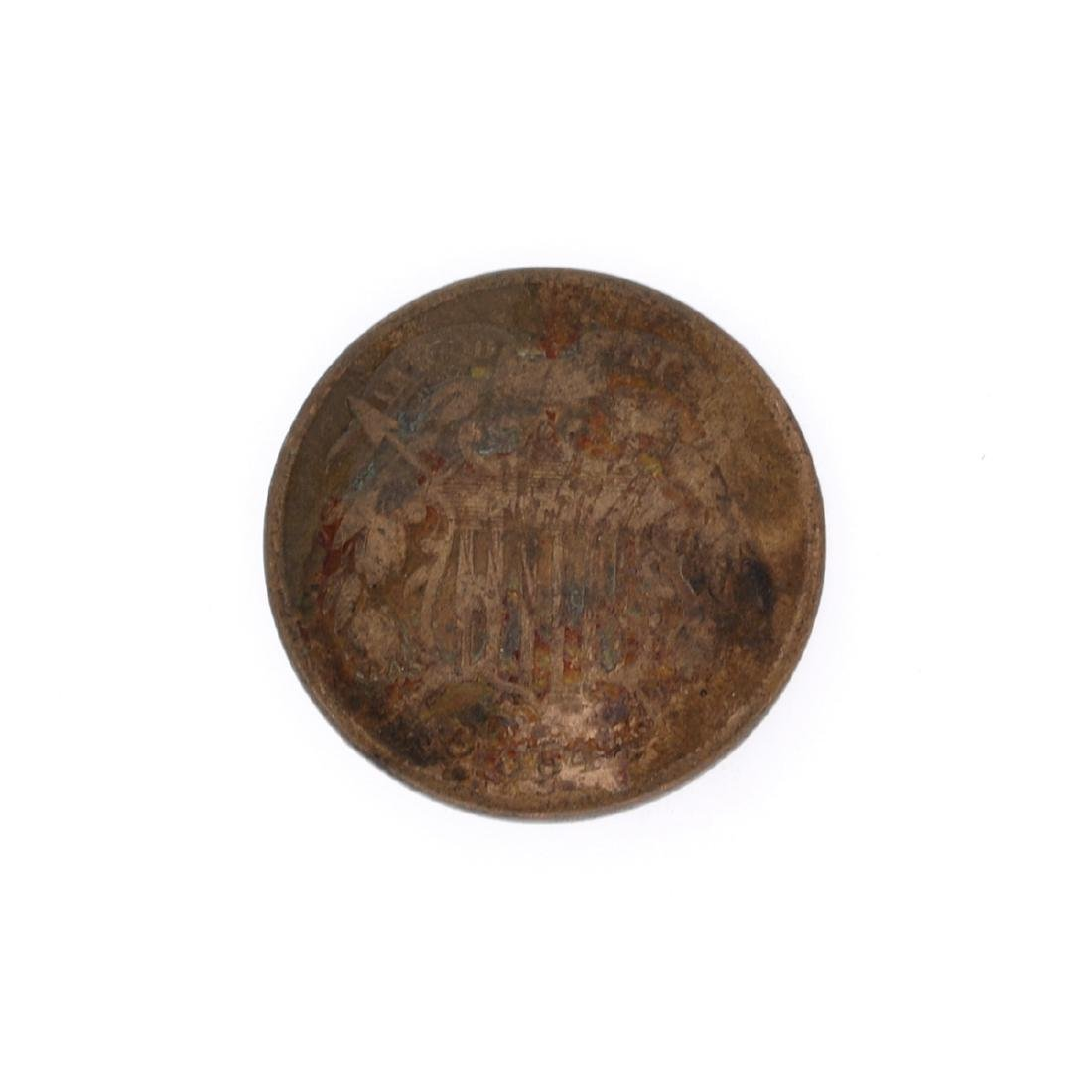Rare XXXX Two-Cents Piece Coin