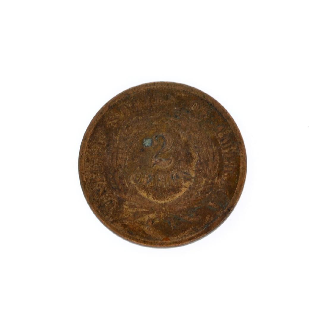 Rare XXXX Two-Cents Piece Coin - 2