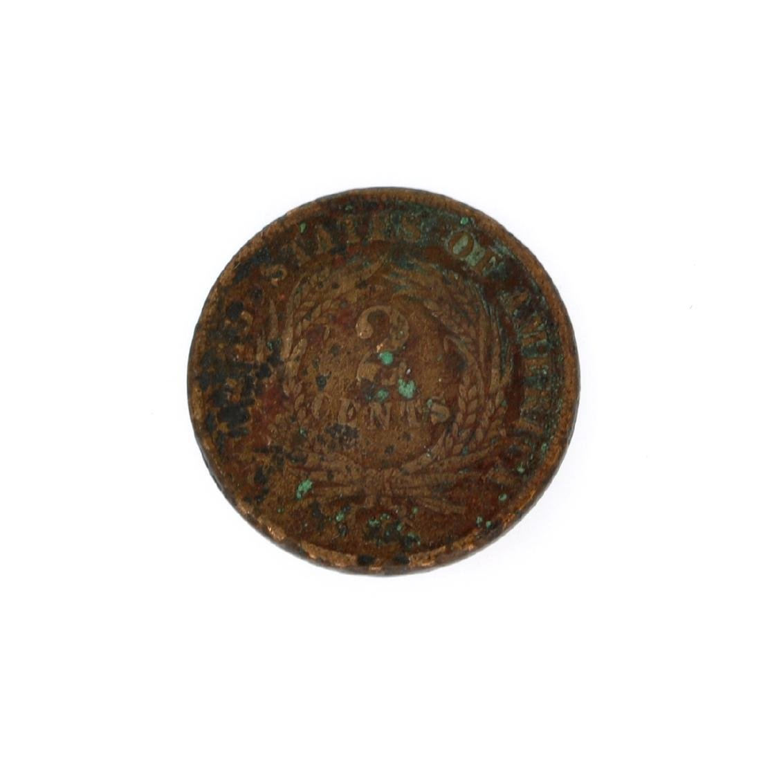 Rare 1866 Two-Cents Piece Coin - 2