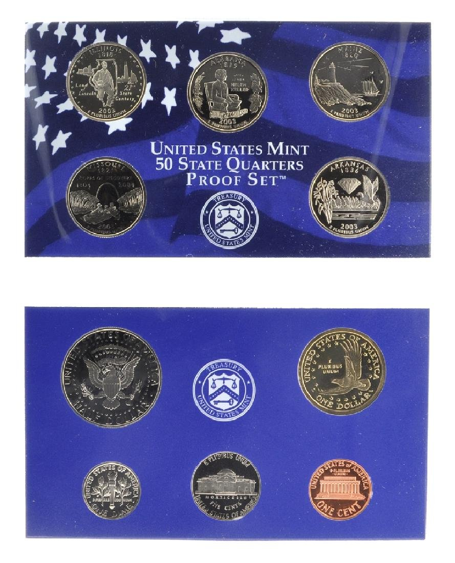2003 United States Mint Proof Set Coin (2) - 2