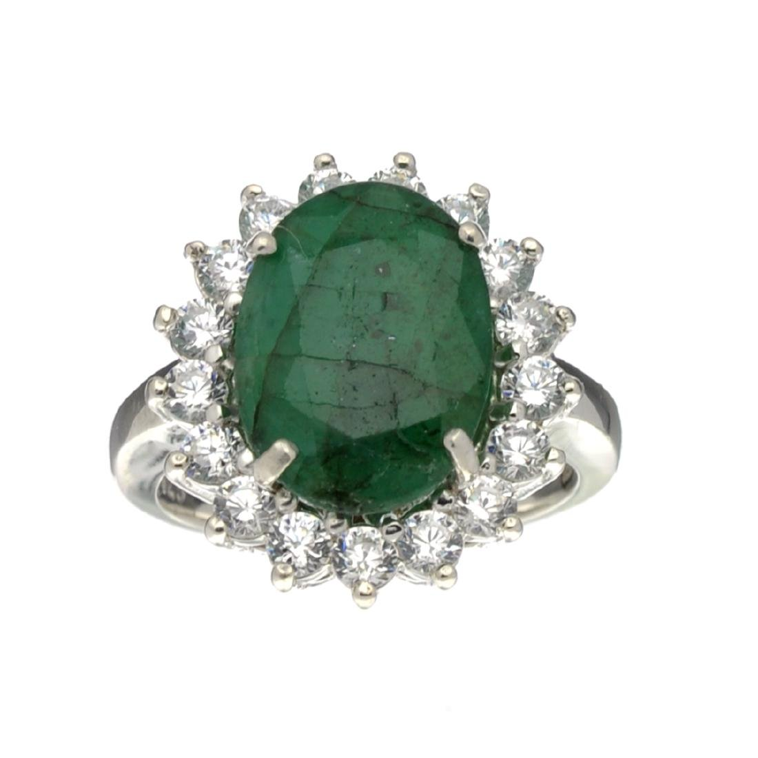 Fine Jewelry Designer Sebastian, Emerald And White