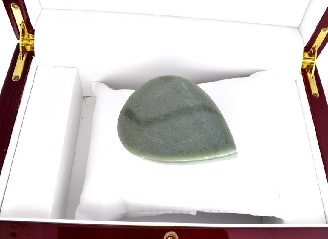 APP: 6k 504.50CT Pear Cut Cabochon Green Jade Gemstone