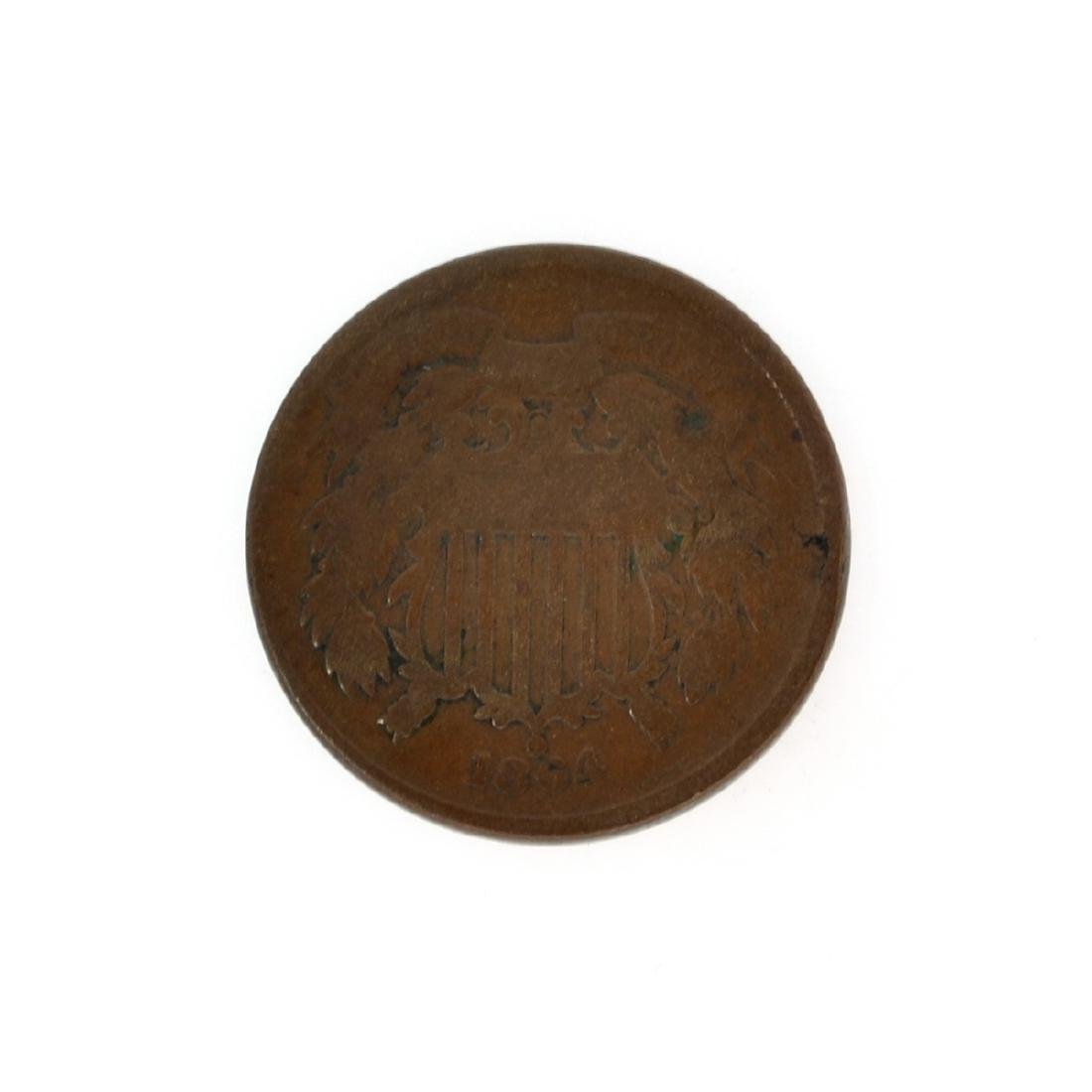 Rare 1864 Two-Cents Piece Coin