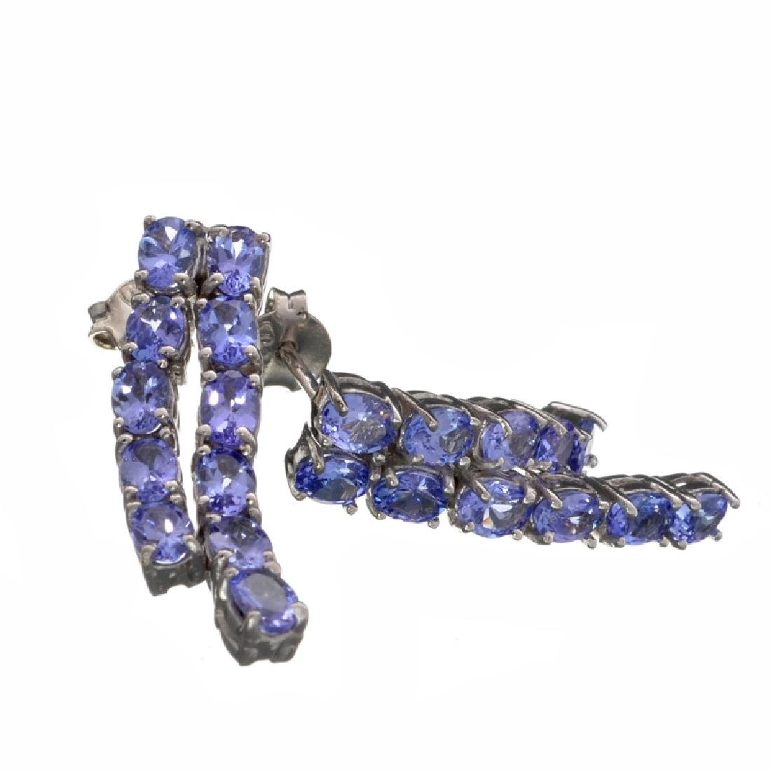Fine Jewelry 2.88CT Oval Cut Violet Blue Tanzanite And