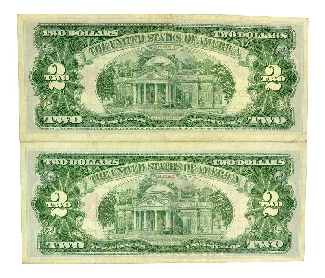 (2) 1963 $2 U.S. Red Seal Notes - 2