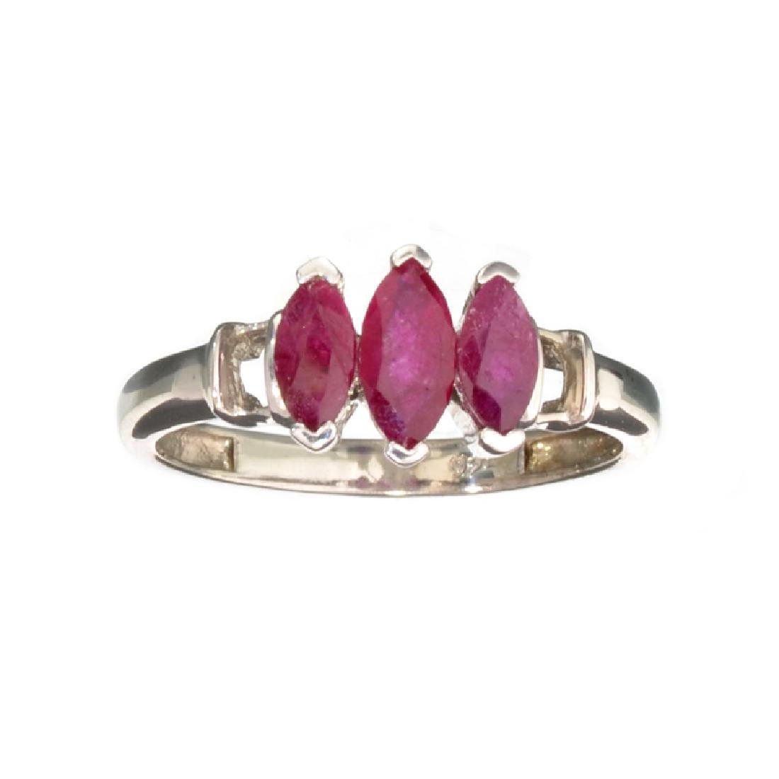 APP: 0.8k Fine Jewelry 1.00CT Marquise Cut Ruby And