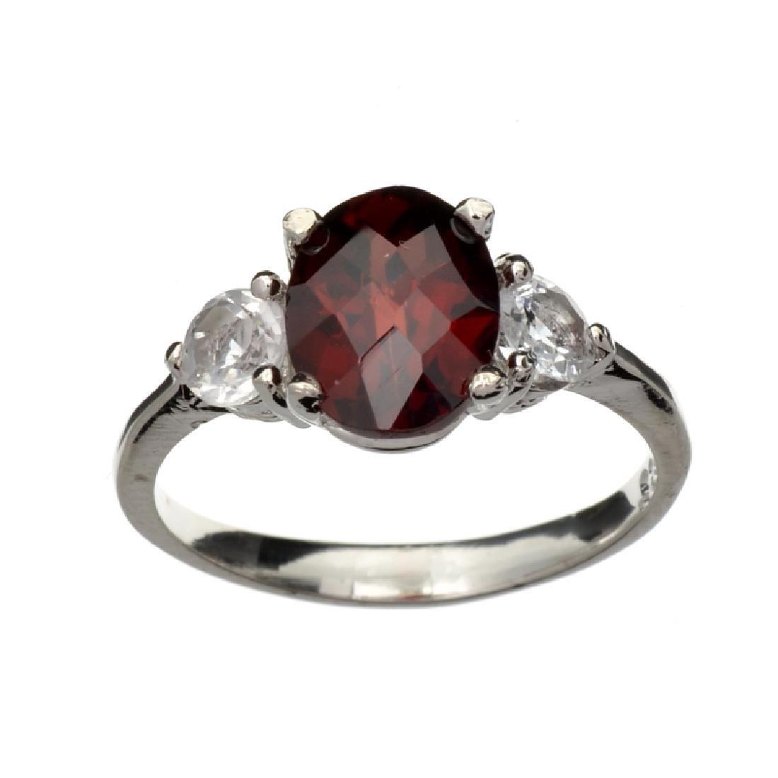 APP: 1.4k Fine Jewelry 2.50CT Almandite And Colorless