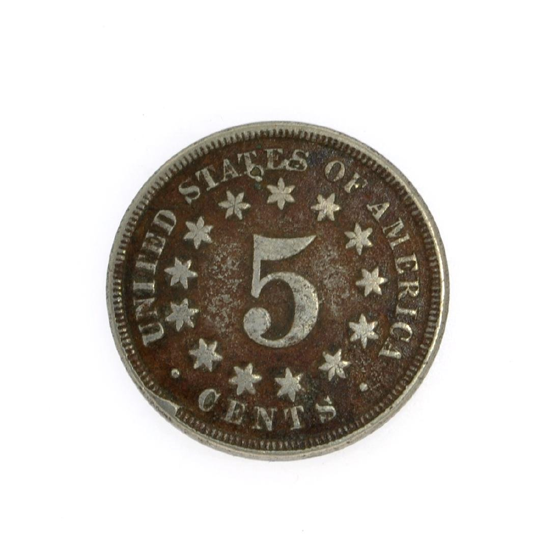 1867 Shield Nickel Coin - 2