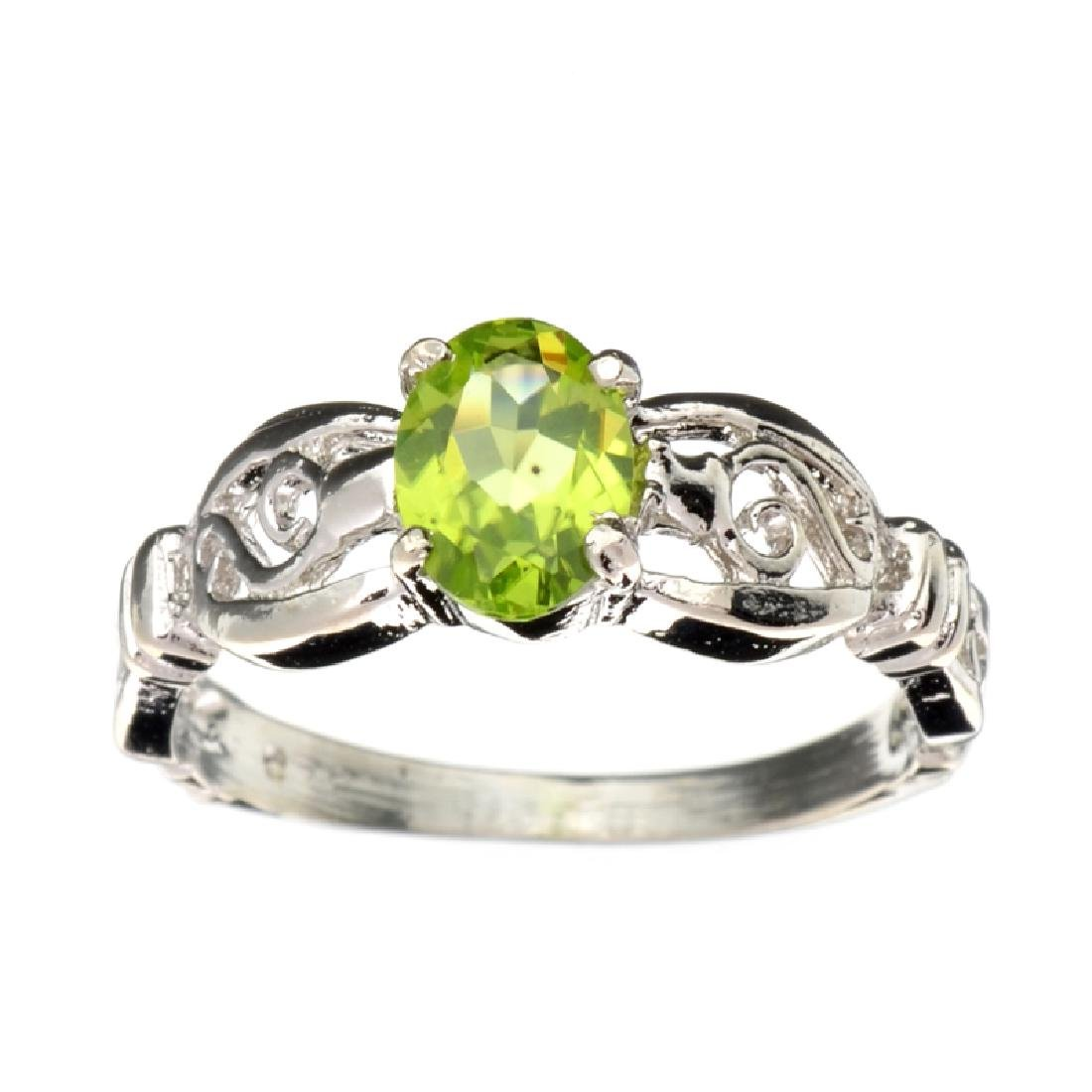 APP: 0.7k Fine Jewelry 0.85CT Oval Cut Green Peridot