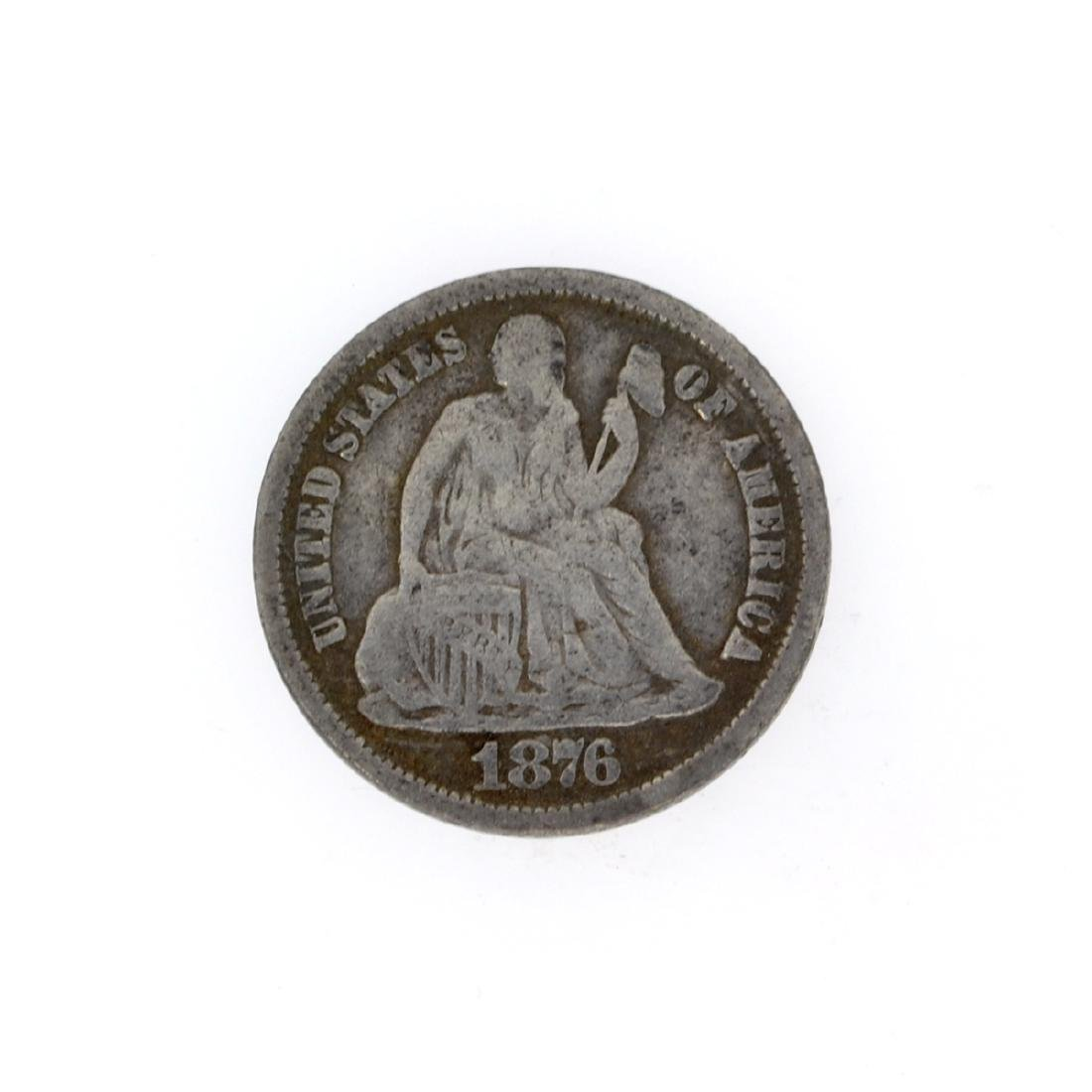 Rare 1876-CC Liberty Seated Dime Coin
