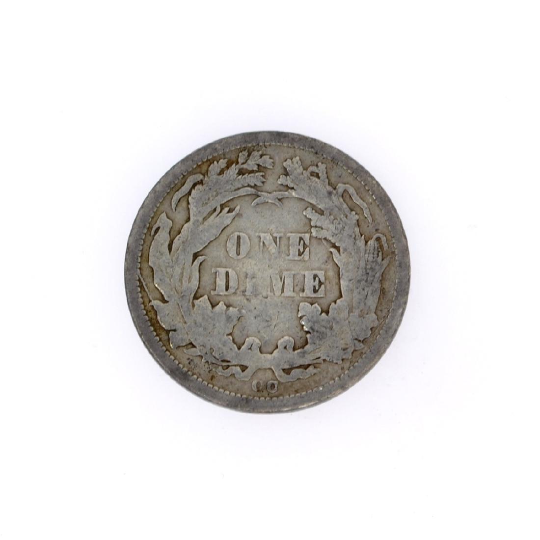 Rare 1876-CC Liberty Seated Dime Coin - 2