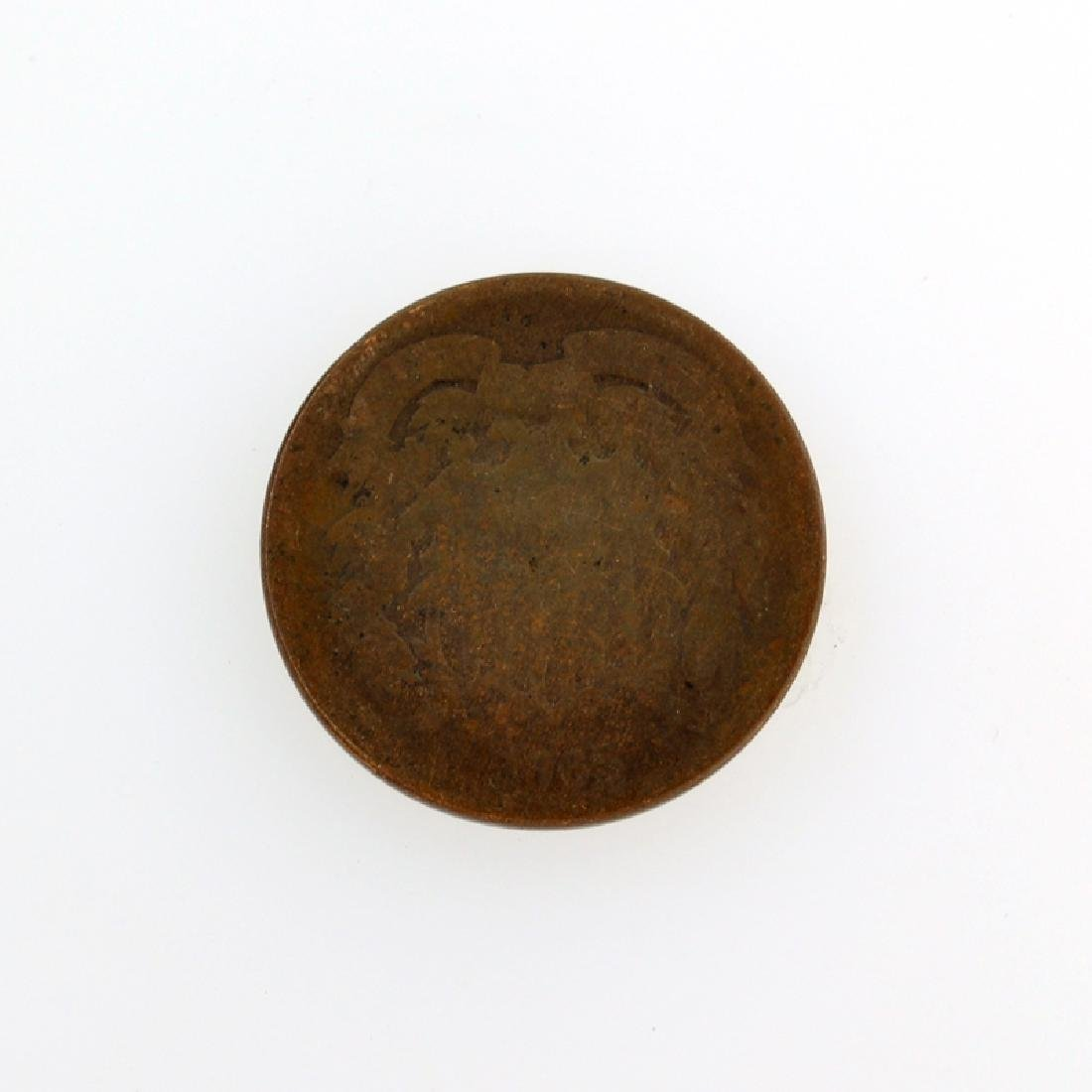 1865 Two-Cent Piece Coin