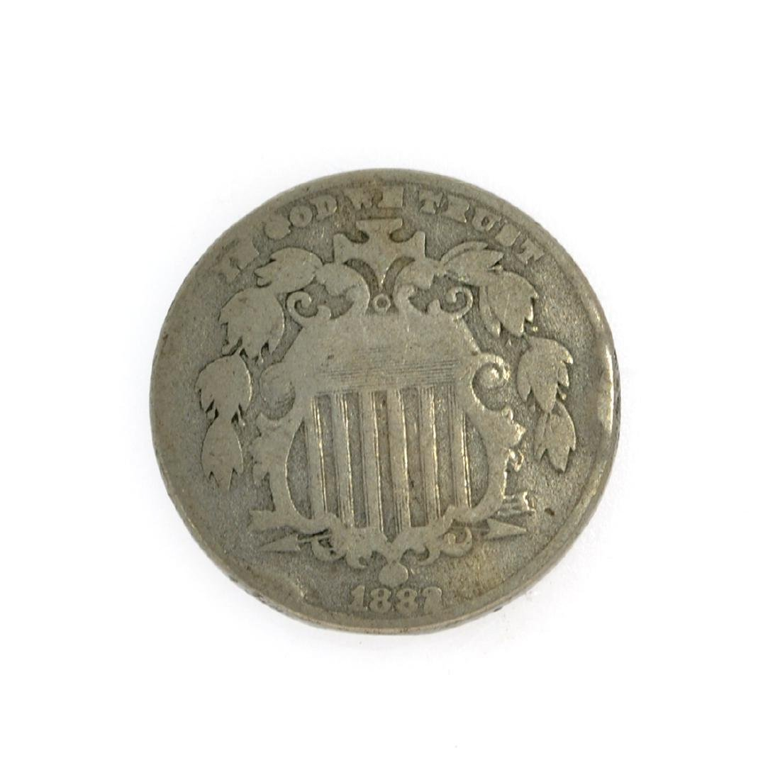 1882 Shield Nickel Coin